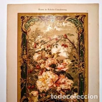 Arte: Precioso Grabado Art Nouveau circa 1900 Antique Unique - Foto 5 - 288861053
