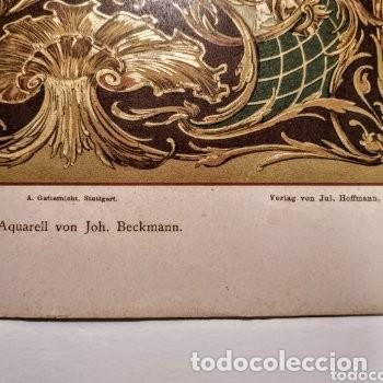 Arte: Precioso Grabado Art Nouveau circa 1900 Antique Unique - Foto 7 - 288861053