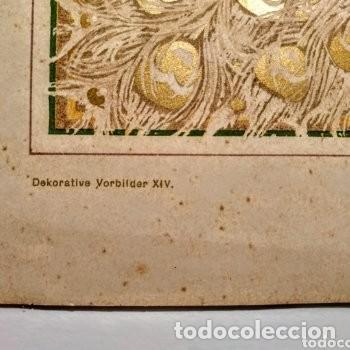 Arte: Grabado Art Nouveau circa 1900 Antique Unique - Foto 3 - 288861528