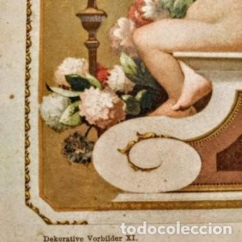 Arte: Precioso Grabado Art Nouveau circa 1900 Antique Unique - Foto 3 - 288862088