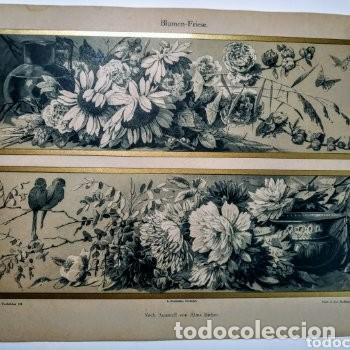 Arte: Precioso Grabado Art Nouveau circa 1900 Antique Unique - Foto 3 - 288862098