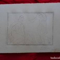 Kunst: PABLO PICASSO, GRABADO, FIRMADO. Lote 288894958