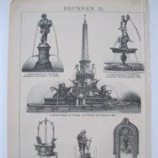 Arte: FUENTES ORNAMENTALES, HACIA 1880. ANÓNIMO. Lote 288915183