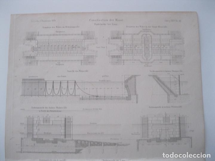 Arte: Canalización de Mosela (Alemania), hacia 1860. Anónimo - Foto 4 - 288916098