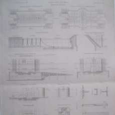 Arte: CANALIZACIÓN DE MOSELA (ALEMANIA), HACIA 1860. ANÓNIMO. Lote 288916098