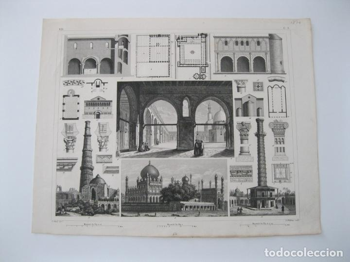 Arte: Ejemplos de arquitectura y columnas turcas, hacia 1870. - Foto 2 - 288920758