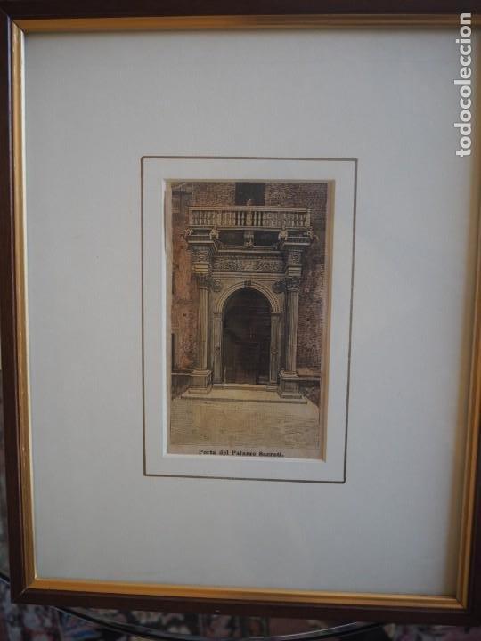 PALACIO PROSPERI- SACRATI. FERRARA. GRABADO. ENMARCADO. (Arte - Grabados - Modernos siglo XIX)