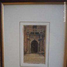 Arte: PALACIO PROSPERI- SACRATI. FERRARA. GRABADO. ENMARCADO.. Lote 288930388