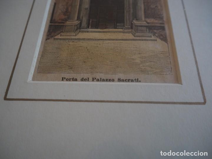 Arte: Palacio Prosperi- Sacrati. Ferrara. Grabado. Enmarcado. - Foto 2 - 288930388