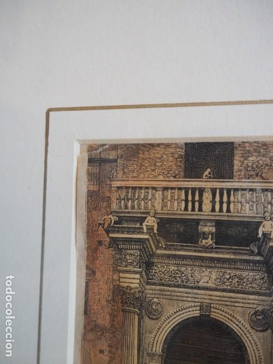 Arte: Palacio Prosperi- Sacrati. Ferrara. Grabado. Enmarcado. - Foto 3 - 288930388