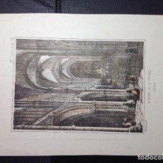Arte: I. MONROS. INTERIOR DE LA CATEDRAL DE AVILA.. Lote 288940983