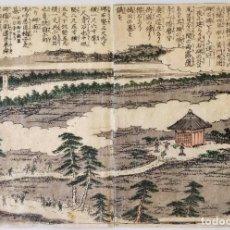Arte: INTERESANTE DÍPTICO, GRABADO JAPONÉS ORIGINAL SIGLO XVIII, CIRCA 1770, BUEN ESTADO, CIRCULO HOKUSAI. Lote 288941458