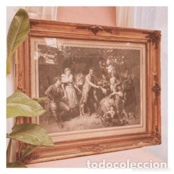 GRAN GRABADO FRANCÉS S.XIX ANTIQUE UNIQUE (Arte - Grabados - Modernos siglo XIX)