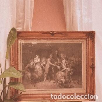 Arte: Gran Grabado Francés s.XIX ANTIQUE UNIQUE - Foto 8 - 288979518