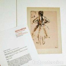 Arte: GRABADO DE DEGAS ANTIQUE UNIQUE. Lote 288982978