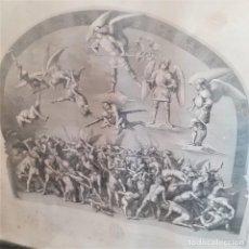 Arte: LA HUESTE DE LOS RÉPROBOS, GRABADO DE VINCENZO PASQUALONI, SOBRE PINTURA DE LUCA SIGNORELLI. Lote 289743128