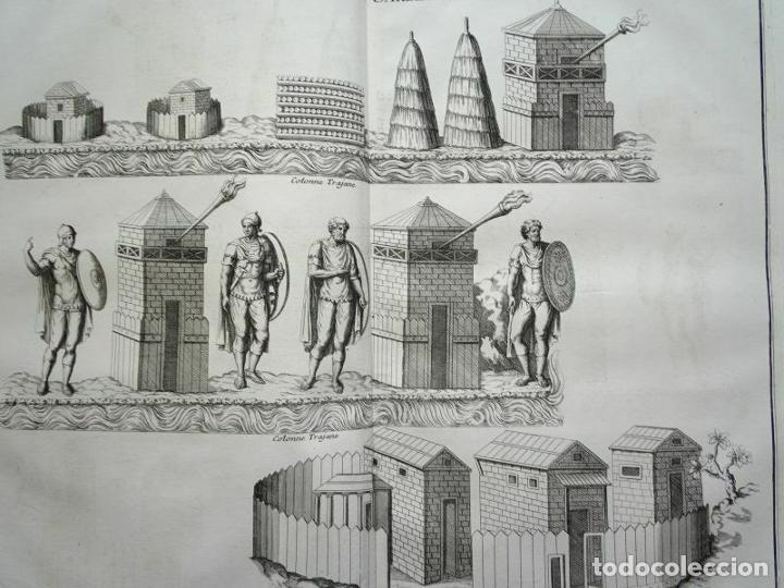 Arte: Graneros, almacenes y guardias en la columna de Trajano (Roma, Italia), 1719. Montfaucon /Delaulne - Foto 2 - 289806183