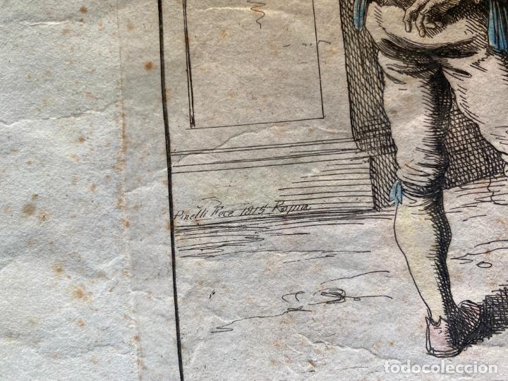 Arte: BARTOLOMEO PINELLI , ETCHING 1815 ROMA , COMITIVA , GRABADO DE 1815 - Foto 3 - 289814043