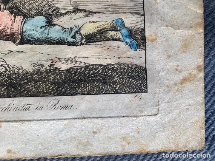 Arte: BARTOLOMEO PINELLI , ETCHING 1815 ROMA , COMITIVA , GRABADO DE 1815 - Foto 5 - 289814043