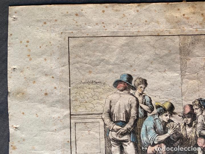 Arte: BARTOLOMEO PINELLI , ETCHING 1815 ROMA , COMITIVA , GRABADO DE 1815 - Foto 8 - 289814043