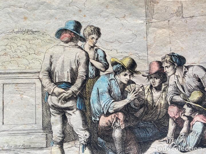 Arte: BARTOLOMEO PINELLI , ETCHING 1815 ROMA , COMITIVA , GRABADO DE 1815 - Foto 10 - 289814043