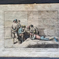 Arte: BARTOLOMEO PINELLI , ETCHING 1815 ROMA , COMITIVA , GRABADO DE 1815. Lote 289814043