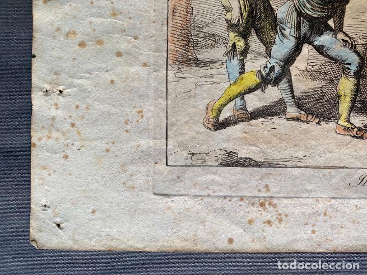 Arte: BARTOLOMEO PINELLI , ETCHING 1815 ROMA , IL GIOCO DI BOCCIA DI ROMA , GRABADO DE 1815 - Foto 3 - 289814408