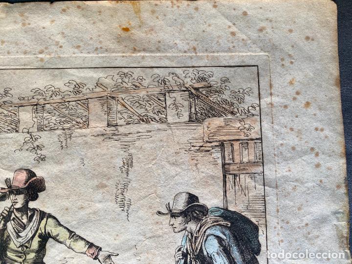Arte: BARTOLOMEO PINELLI , ETCHING 1815 ROMA , IL GIOCO DI BOCCIA DI ROMA , GRABADO DE 1815 - Foto 7 - 289814408