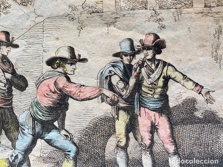 Arte: BARTOLOMEO PINELLI , ETCHING 1815 ROMA , IL GIOCO DI BOCCIA DI ROMA , GRABADO DE 1815 - Foto 8 - 289814408