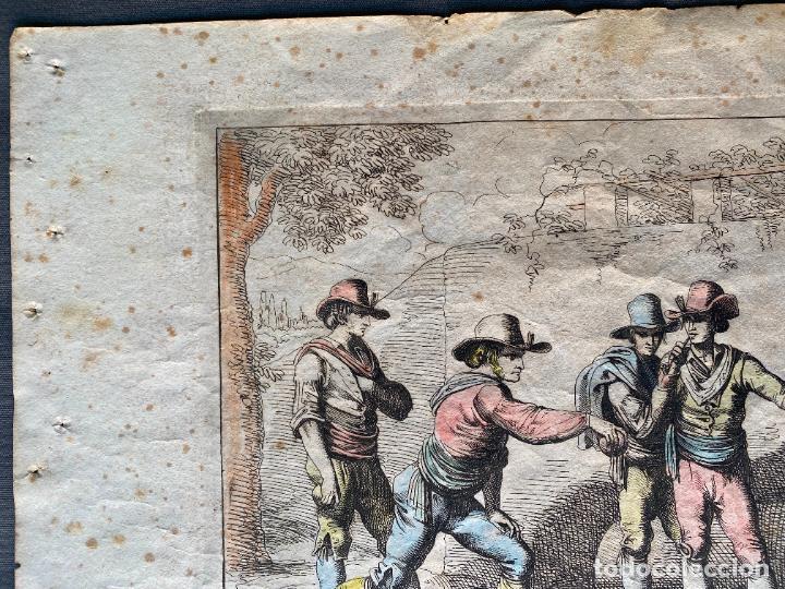Arte: BARTOLOMEO PINELLI , ETCHING 1815 ROMA , IL GIOCO DI BOCCIA DI ROMA , GRABADO DE 1815 - Foto 9 - 289814408