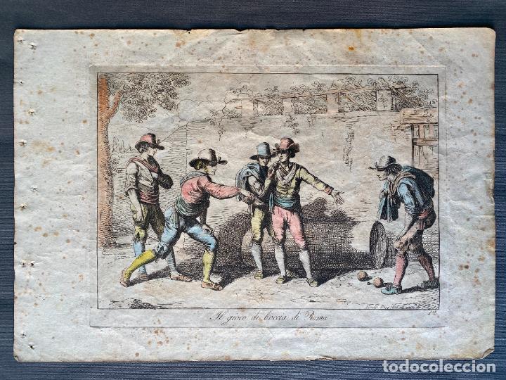 BARTOLOMEO PINELLI , ETCHING 1815 ROMA , IL GIOCO DI BOCCIA DI ROMA , GRABADO DE 1815 (Arte - Grabados - Antiguos hasta el siglo XVIII)