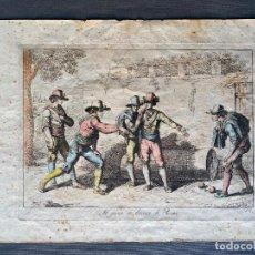 Arte: BARTOLOMEO PINELLI , ETCHING 1815 ROMA , IL GIOCO DI BOCCIA DI ROMA , GRABADO DE 1815. Lote 289814408