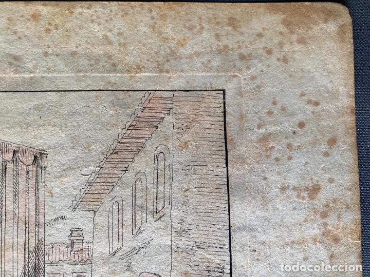Arte: BARTOLOMEO PINELLI , ETCHING 1815 ROMA , IL CASOTTO DEI BURATTINI IN ROMA , GRABADO DE 1815 - Foto 3 - 289814603