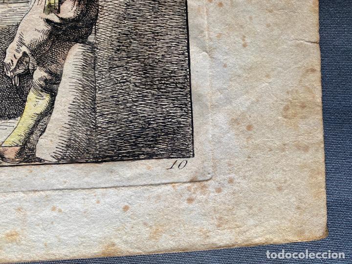 Arte: BARTOLOMEO PINELLI , ETCHING 1815 ROMA , IL CASOTTO DEI BURATTINI IN ROMA , GRABADO DE 1815 - Foto 4 - 289814603