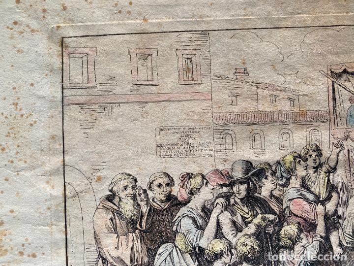 Arte: BARTOLOMEO PINELLI , ETCHING 1815 ROMA , IL CASOTTO DEI BURATTINI IN ROMA , GRABADO DE 1815 - Foto 6 - 289814603