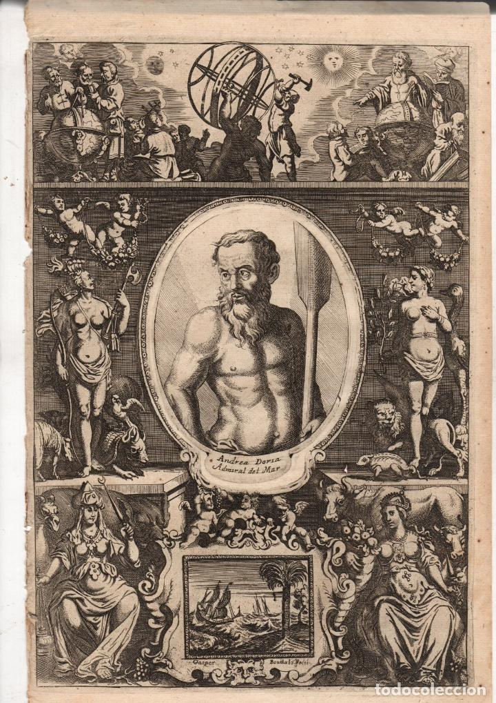 GRABADO ANDREA DORIA. ALMIRANTE ITALIANO. GASPER BOUTTAT FECIT. SIGLO XVII (Arte - Grabados - Antiguos hasta el siglo XVIII)