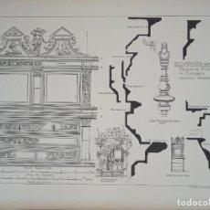 Arte: GRABADO DETALLES ORNAMENTALES RENACENTISTAS CATEDRAL DE SIGUENZA, GUDALAJARA, 1893, PRENTICE.. Lote 289873848