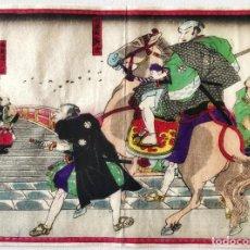 Arte: EXCELENTE GRABADO JAPONÉS ORIGINAL, MAESTRO KUNISADA, CYUSHINGURA, GUERREROS RONIN.1850, SAMURAIS. Lote 292597148