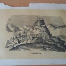 Arte: VISTA DE MORELLA. GRABADO S. XIX. 11 X 7 CM. Lote 293609963