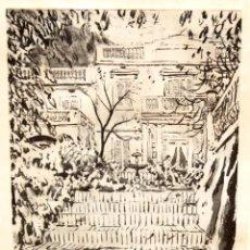Arte: JOSEP AMAT PAGÈS (BARCELONA, 1901 - 1991) GRABADO ORIGINAL FIRMADO A MANO. PRUEBA DE ARTISTA. Lote 293775198