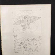 Arte: GANIMEDES, MIGUEL ANGEL, GRABADO COBRE, GEMALDE GALLERIE 1814, PLANCHA Nº 70, MITOLOGICO. Lote 295408718