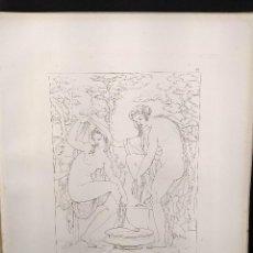 Arte: MUJERES EN EL BAÑO, MIGUEL ANGEL, GRABADO COBRE, GEMALDE GALLERIE 1814, PLANCHA Nº 72, MITOLOGICO. Lote 295408913