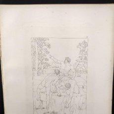 Arte: ESCALADORES, MIGUEL ANGEL, GRABADO COBRE, GEMALDE GALLERIE 1814, PLANCHA Nº 73, MITOLOGICO. Lote 295409153