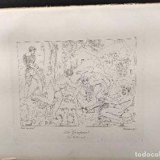 Arte: ESCALADORES, MIGUEL ANGEL, GRABADO COBRE, GEMALDE GALLERIE 1814, PLANCHA Nº 74, MITOLOGICO. Lote 295409288