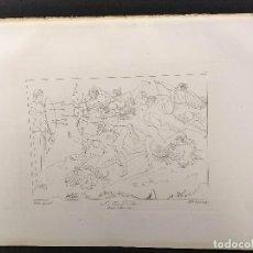 Arte: LOS ARQUEROS, MIGUEL ANGEL, GRABADO COBRE, GEMALDE GALLERIE 1814, PLANCHA Nº 76, MITOLOGICO. Lote 295409688