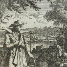 Arte: EL GRANJERO, 1719. LUYKEN. Lote 295422698