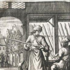 Arte: EL FABRICANTE Y VENDEDOR DE ESPADAS, 1736. LUYKEN. Lote 295424948
