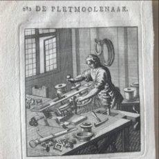 Arte: FABRICANTE DE PIEZAS METÁLICAS, 1736. LUYKEN. Lote 295449788