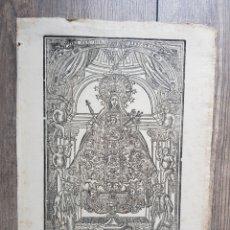 Arte: ANTIGUO GRABADO SRA MERCÉ ACE MARIA DIAS INDULGENCIA TECLA PLA VIUDA VICENS VERDAGUER COTONERS. Lote 295498298