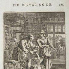 Arte: VENDEDOR DE ACEITE, 1730. LUYKEN. Lote 295508408